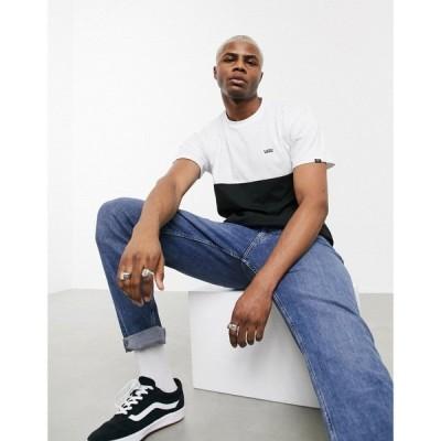 ヴァンズ Vans メンズ Tシャツ トップス Colorblock t-shirt in black/white ブラックホワイト