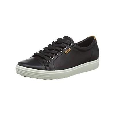 ECCO Women's Soft 7 Sneaker, Black, 38 EU/7-7.5 M US