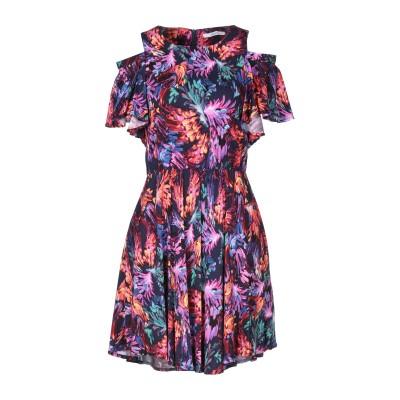 LANACAPRINA ミニワンピース&ドレス ダークブルー 42 レーヨン 91% / ポリウレタン 9% ミニワンピース&ドレス