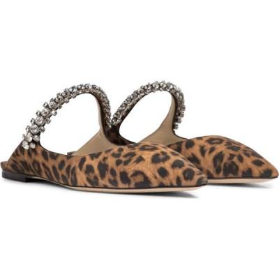 ジミー チュウ Jimmy Choo レディース スリッパ シューズ・靴 Bing leopard-print suede slippers Natural Mix