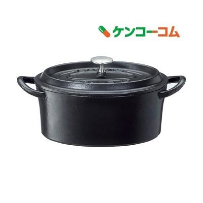 鋳物ホーロー両手鍋 ボンボネールココット オーバル 17cm ブラック 3624 ( 1コ入 )/ ボンボネール