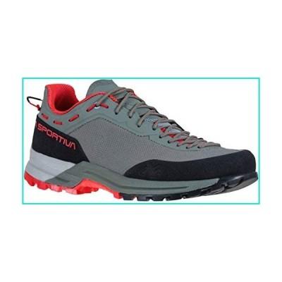 La Sportiva Women's TX Guide Rock Climbing Shoes, Clay/Hibiscus, 40