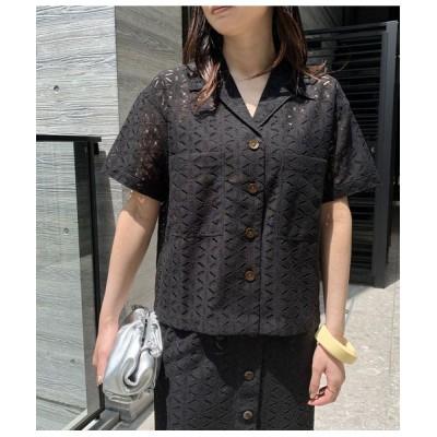 ROPE'/ロペ 【セットアップ対応】マーガレットレース半袖シャツ ブラック(01) 38