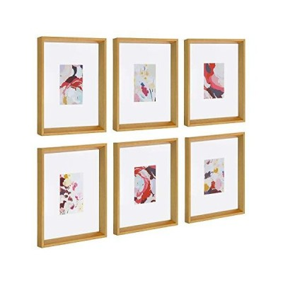 Kate and Laurel Calter Framed Under Glass Modern Abstract Floral Multicolor