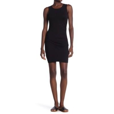 ラブファイヤ レディース ワンピース トップス Ruched Side Mini Dress BLACK