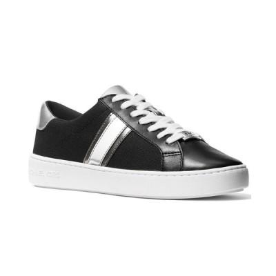 マイケルコース スニーカー シューズ レディース Irving Side-Striped Lace-Up Sneakers Black