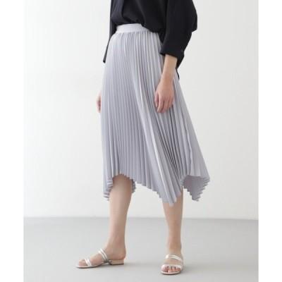 スカート ◆ランダムヘムプリーツスカート