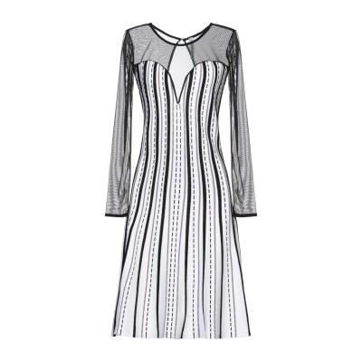 ピアヌラストゥーディ�� PIANURASTUDIO ミニワンピース&ドレス ホワイト XL レーヨン 65% / ナイロン 35% ミニワンピース