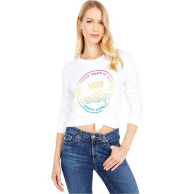 ヴァンズ Vans レディース 長袖Tシャツ ロゴTシャツ トップス 2020 VTCS Logo Long Sleeve Boyfriend Tee White