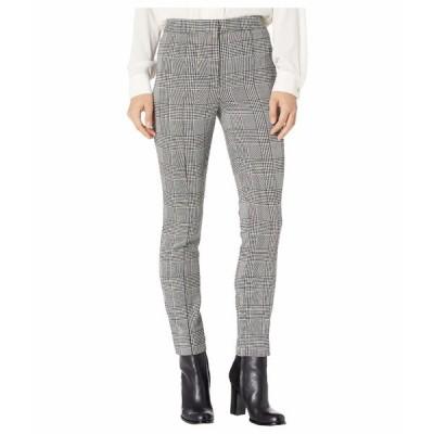 アダム リピズ カジュアルパンツ ボトムス レディース Double Faced Plaid Wool Cigarette Pants Black/White