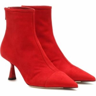 ジミー チュウ Jimmy Choo レディース ブーツ ショートブーツ シューズ・靴 kix 65 suede ankle boots Red