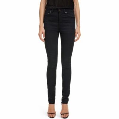 イヴ サンローラン SAINT LAURENT レディース ジーンズ・デニム スキニー ボトムス・パンツ Skinny Jeans Used Black