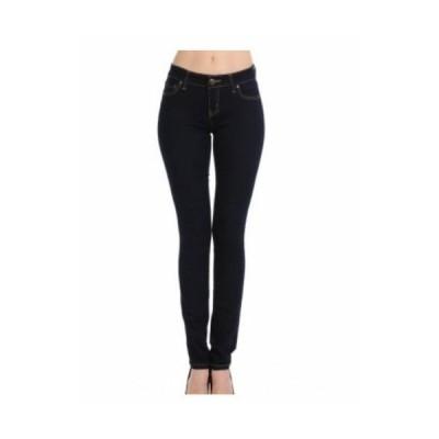 ジーンズ インポート レディース   BLACK WaxJean  Womens Juniors Mid Rise Basic One button Skinny Jeans BUTT I LOVE(90000