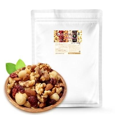 6種ミックスナッツ&ドライフルーツ 750g 無塩 防災食品 非常食 保存食 備蓄食 常備食