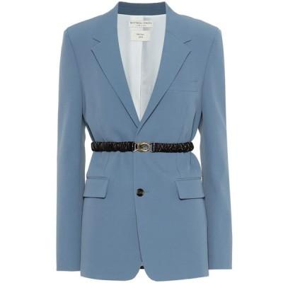 ボッテガ ヴェネタ Bottega Veneta レディース スーツ・ジャケット アウター technical gabardine blazer Baby Blue/Chocolate