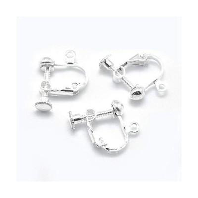 壊れにくい高品質タイプ小さいタイプ 先丸ネジバネ式イヤリングパーツ 20個(10ペア)14x14x3mm イヤリング金具 Earrings