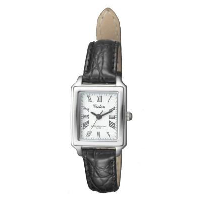 CROTON(クロトン)スクエア3針クォーツ レディース腕時計 RT-158L-CA