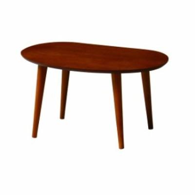 ティーナ ローテーブル TINA-LT600 木製テーブル オーバル型 木目 ナチュラル ブラウン 木製 オーバル(代引不可)【送料無料】