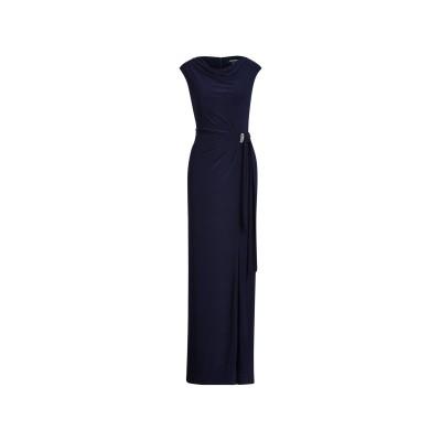 LAUREN RALPH LAUREN ロングワンピース&ドレス ダークブルー 2 ポリエステル 95% / ポリウレタン 5% ロングワンピース&