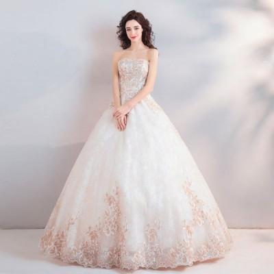 ウエディングドレス レディース 素敵な ベアトップ ブライダルドレス 上品な 花嫁ドレス 写真撮影 ドレス オシャレ プリンセスドレス 演奏会ドレス