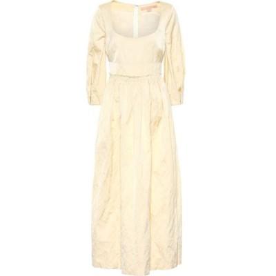 ブロック コレクション Brock Collection レディース ワンピース ミドル丈 ワンピース・ドレス ondina satin midi dress Open White