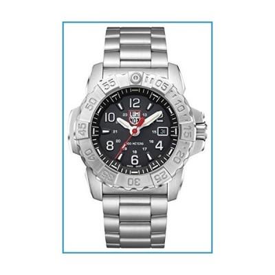 新品Luminox メンズ 腕時計 ネイビー シール スチール 3252 45mm ブラック ディスプレイ シルバー ステンレス