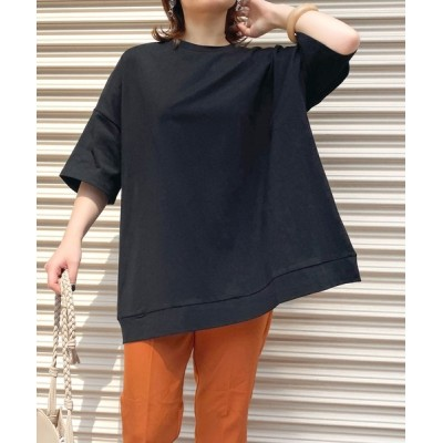 tシャツ Tシャツ 【HERCLOSET】ヘビーウェイトコットンビッグシルエットTシャツ