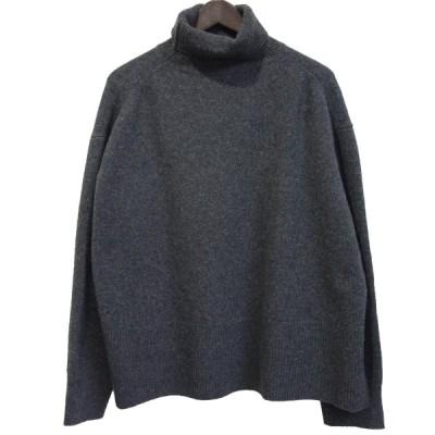 【12月28日値下】LE CIEL BLEU 19AW 「Turtleneck Boil Knit Tops」 カシミヤ混タートルネックニット グレー