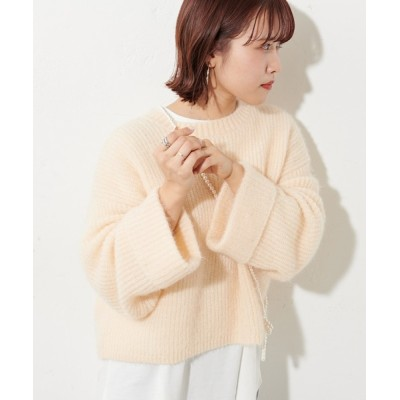Discoat / 【SET ITEM】モヘアライクニット×ロングTシャツ WOMEN トップス > ニット/セーター
