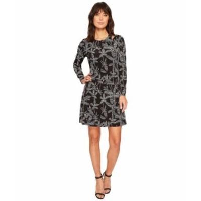 Ivanka Trump イヴァンカ トランプ ドレス 一般 Matte Jersey Printed Cut Out Shoulder Long Sleeve Dress