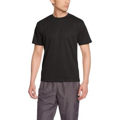 グリマー 半袖 4.4oz ドライTシャツ (クルーネック) 00300-ACT ブラック L (日本サイズL相当)