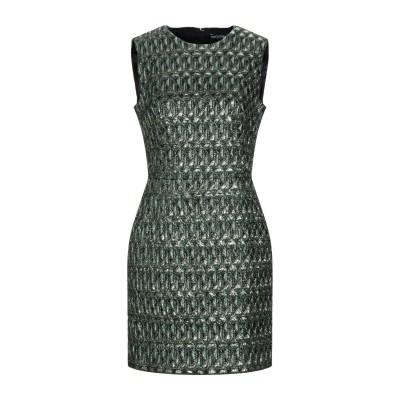 ドルチェ & ガッバーナ DOLCE & GABBANA ミニワンピース&ドレス グリーン 46 ポリエステル 100% ミニワンピース&ドレス