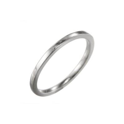 10金ホワイトゴールド 平らな指輪 地金 約1.4mm幅