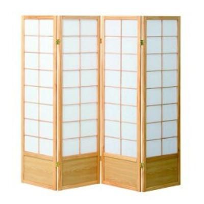和風衝立4連 150cm高 全2色   ついたて 和風 間仕切り 木製 つい立 折り畳み パーテーション 激安 和室 和家具 居間 間仕切 茶 日本家