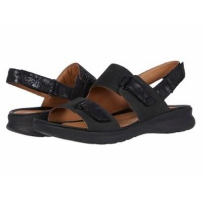 Clarks クラークス レディース 女性用 シューズ 靴 サンダル Un Adorn Sling Black Nubuck/Leather Combi【送料無料】