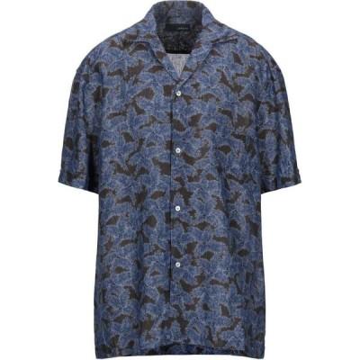ラルディーニ LARDINI メンズ シャツ トップス linen shirt Dark brown
