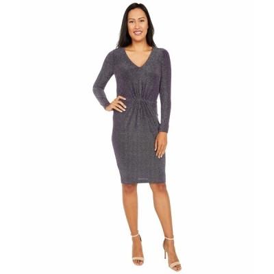 カルバンクライン ワンピース トップス レディース V-Neck Glitter Jersey Dress Night