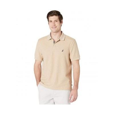 Nautica ナウチカ メンズ 男性用 ファッション ポロシャツ Classic Fit Deck Polo - Coastal Camel Heather