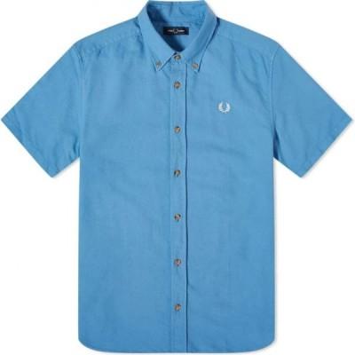 フレッドペリー Fred Perry Authentic メンズ 半袖シャツ トップス short sleeve overdyed shirt Riviera