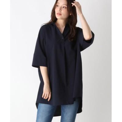 SHOO・LA・RUE/Mrs.(シューラルー/ミセス) 【M-LL】ビッグスキッパーシャツ