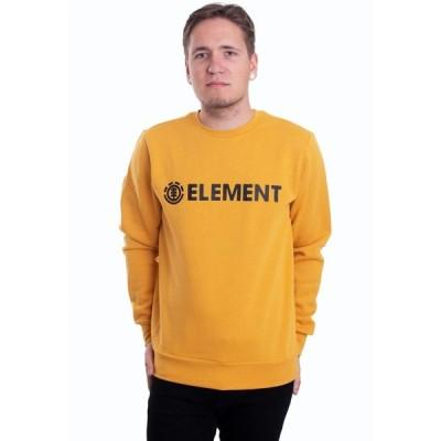 エレメント Element メンズ スウェット・トレーナー トップス - Blazin Crew Mineral Yellow - Sweater yellow