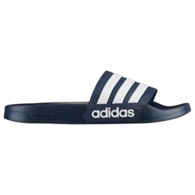 アディダス adidas メンズ サンダル シューズ・靴 Adilette Shower Slide Collegiate Navy/White