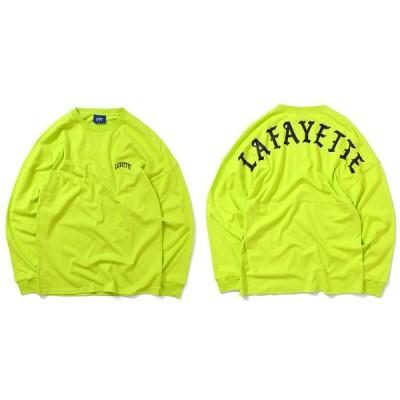 LFYT エルエフワイティー ARCH LOGO DROP SHOULDER L/S TEE 長袖 Tシャツ LA200101 SAFETY GREEN セーフティーグリーン
