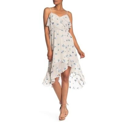 ナネットレポー レディース ワンピース トップス Floral Embroidered Faux Wrap High/Low Dress IVORY MULT