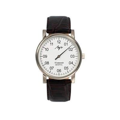 ワンハンド機械式腕時計メンズ腕時計38mmレザーバンド付きユニークなシングルハンドウォッチデザイン手巻きロシア機械式腕時計キャリバー1801.1H。