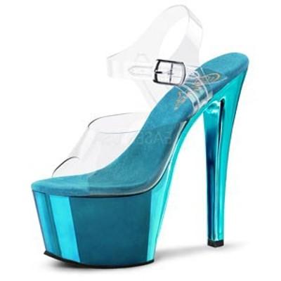 "Pleaser プリーザー サンダル SKY-308 7"" Heel (sky308-c-tech) レディース ハイヒール シューズ 靴 お取り寄せ商品"