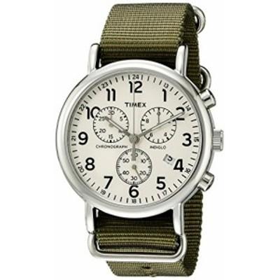 腕時計 タイメックス メンズ Timex Unisex TW2P71400 Weekender Chrono Green Double-Layered Nylon Slip