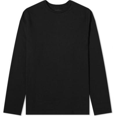 オーガニック ベーシックス Organic Basics メンズ 長袖Tシャツ トップス Organic Cotton Long Sleeve Tee Black