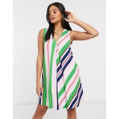 テッドベーカー ミディドレス レディース Ted Baker Creativ stripe tunic mini dress in multi  エイソス ASOS sale ピンク