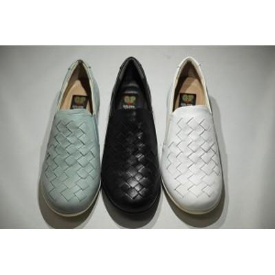ゴールデンフット レディースシューズ 9710  メッシュ スリッポン 婦人靴
